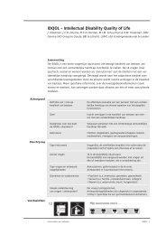IDQOL - Intellectual Disability Quality Of Life - Kennisplein