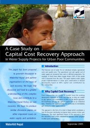 Capital cost recovery approach in water supply projects ... - WaterAid