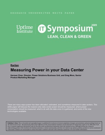 Measuring Power in your Data Center - Communications Supply ...