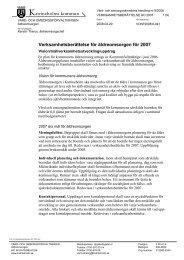 Verksamhetsberättelse för äldreomsorgen för 2007 - Katrineholms ...