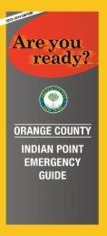 orange county indian point emergency guide - Orange County, NY