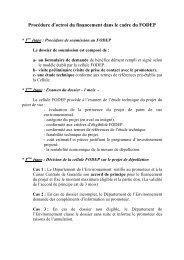 Procédure d'octroi des financements FODEP - Département de l ...