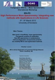 High Performance Mass Spectrometry: Integrating new methods with ...