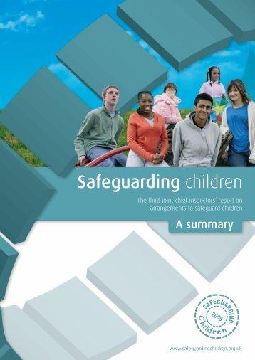 Safeguarding children 2008 - summary - HMCPSI