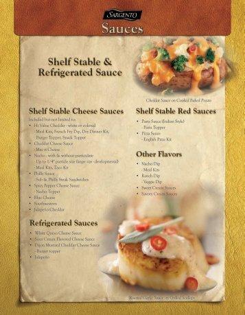 PG.7 Sauce Shelf Stable - Sargento Food Service
