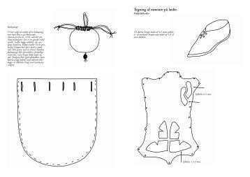 Tegning af mønstre på læder. - Skoletjenesten