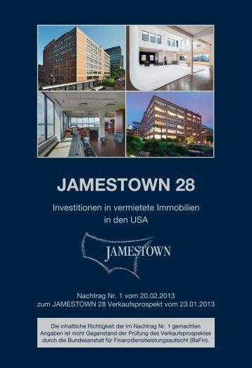 Nachtrag Nr. 1 vom 20.02.2013 - Jamestown