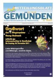 Grußwort des 1. Bürgermeister Georg Ondrasch anlässlich des ...