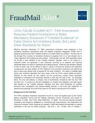 CIVIL FALSE CLAIMS ACT: FAR Amendment Requires ... - Fried Frank