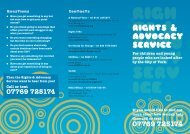 Rights & AdvoCACy seRviCe - YorOK