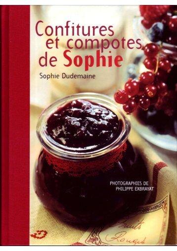 Les Confitures et les Compotes de Sophie - Fichier PDF