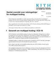 Samlet oversikt over retningslinjer for multippel koding 1 ... - KITHs