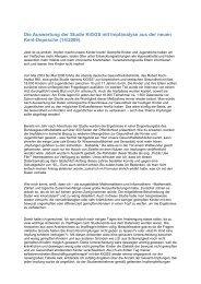 Auswertung der Studie (Kent-Depesche) - Rent-a-Shop