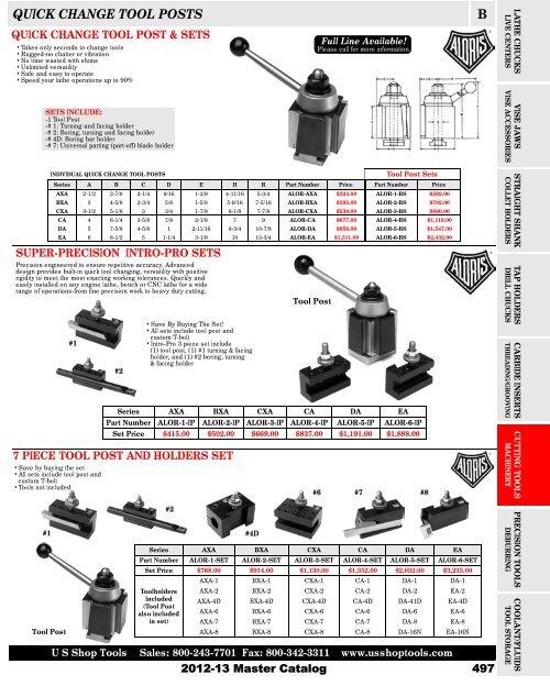 "Quick change universal parting blade holder #7 max.11//16/"" bit #250-207"