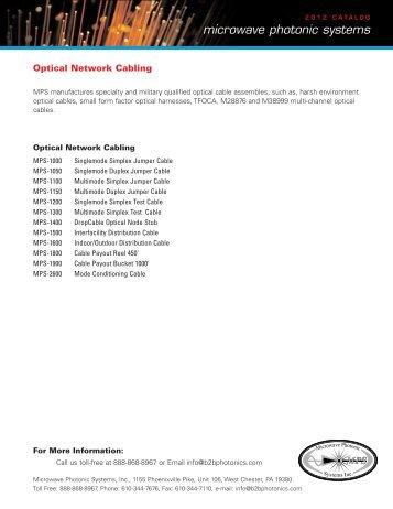 Catalog Part 2 - Microwave Photonic Systems, Inc.