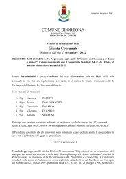 Giunta Comunale - Comune di Ortona