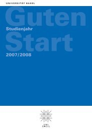 Studienjahr 2007/2008 - National Center of Competence in ...