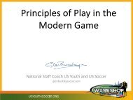 Principles of Play in the Modern Game - US Youth Soccer