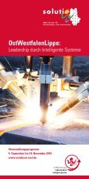 Programmheft solutions 2010 - Leadership durch intelligente Systeme