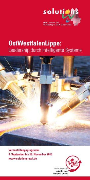 Programmheft solutions 2010 - Leadership durch intelligente Systeme