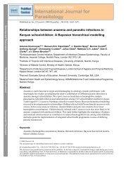 International Journal for Parasitology - Harvard University
