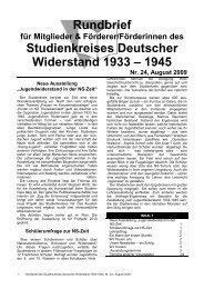 Rundbrief, NR.24 - Studienkreis Deutscher Widerstand ...