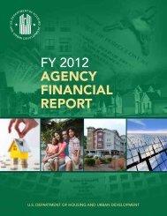 FY 2012 Agency Financial Report (PDF) - HUD