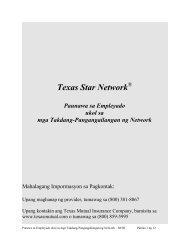 Texas Star NetworkSM - TexasMutual