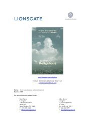 www.lionsgate.com/religulous For more ... - Visual Hollywood