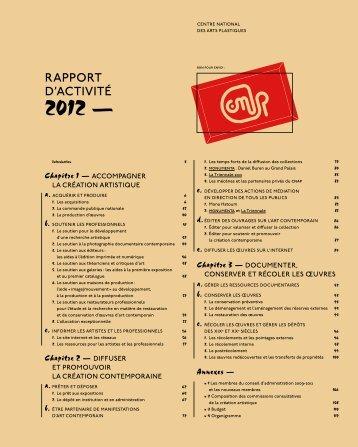 Télécharger le rapport d'activité 2012 - Centre national des arts ...