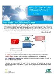 Bilan Gaz à Effet de Serre CRCA Alpes Provence - Crédit Agricole ...