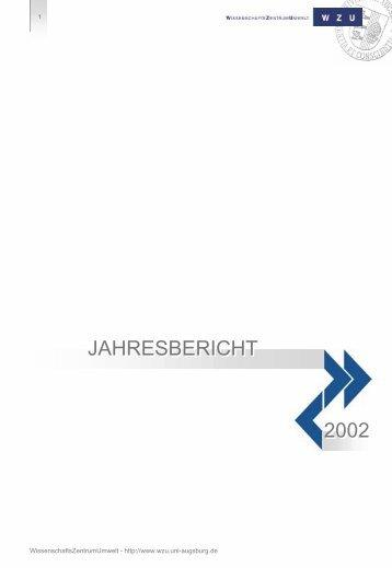 2002 - WissenschaftsZentrum Umwelt - Universität Augsburg