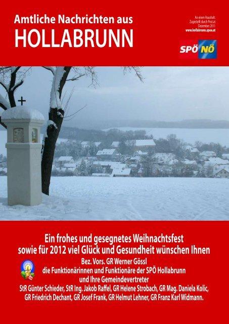 Amtliche Nachrichten aus - SPÖ Hollabrunn