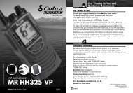 MR HH325 VP - Cobra Electronics - Buy Two Way Radios