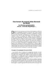 Une lecture du nouvel Atlas électoral du Brésil - Lusotopie