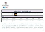 WCOA Rome 2014 -Sponsorship Packages