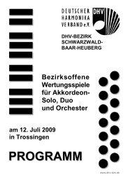 PROGRAMM - DHV-Bezirk Schwarzwald-Baar-Heuberg