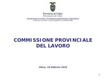 IV trimestre 2009 - Provincia di Udine