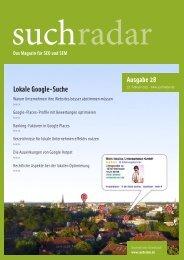 suchradar - Ausgabe 28 - 23. Februar 2011
