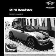 MINI Roadster Preisliste 2012 - Motorredaktion