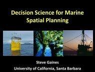 Ecosystem service tradeoff analysis - National Marine Sanctuaries