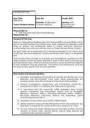 ASB Officer -JOB DESCRIPTION - Tower Hamlets Homes