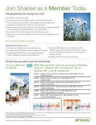 Join Shaklee as a Member Today