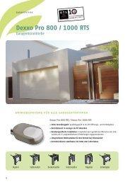 dexxo Pro 800 / 1000 RTS - Somfy