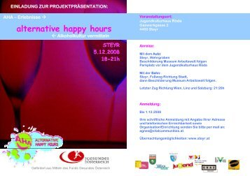 alternative happy hours