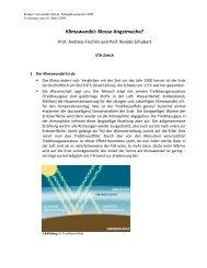 Faktenblatt Klimawandel - ETH Zürich