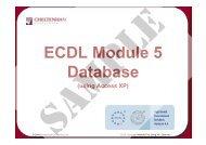 ECDL Module 5 Database