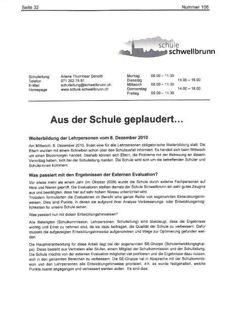 Infoblatt Dezember (Teil 2) - Gemeinde Schwellbrunn