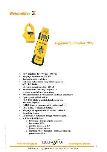 Digitalni multimeter 1037