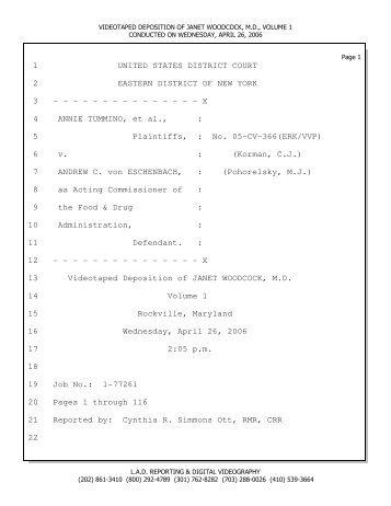 Woodcock vol 1 e-transcript.ptx - Center for Reproductive Rights